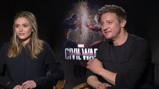 Elizabeth Olsen & Jeremy Renner Interview - Captain America: Civil War Video Thumbnail