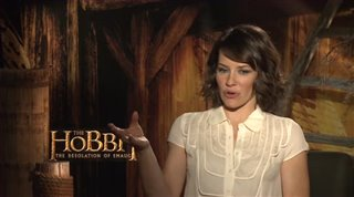 Evangeline Lilly (The Hobbit: The Desolation of Smaug)- Interview Video Thumbnail