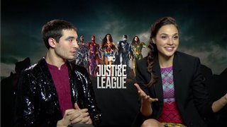 ezra-miller-gal-gadot-interview-justice-league Video Thumbnail