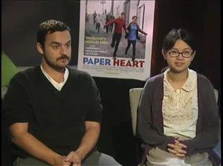Jake Johnson & Charlyne Yi (Paper Heart)- Interview Video Thumbnail