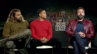 Jason Momoa, Ray Fisher & Ben Affleck Interview - Justice League Video Thumbnail