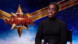 Lashana Lynch talks 'Captain Marvel'- Interview Video Thumbnail