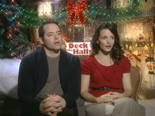 MATTHEW BRODERICK & KRISTEN DAVIS (DECK THE HALLS) - Interview Video Thumbnail