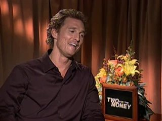 MATTHEW MCCONAUGHEY - TWO FOR THE MONEY - Interview Video Thumbnail