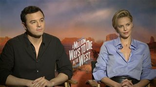 Seth MacFarlane & Charlize Theron (A Million Ways to Die in the West)- Interview Video Thumbnail