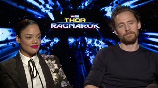 tessa-thompson-tom-hiddleston-interview-thor-ragnarok Video Thumbnail